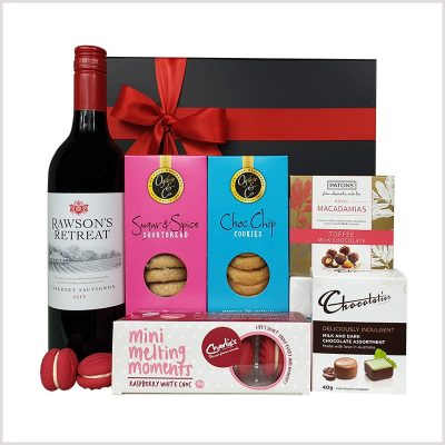 Sweet And Red Wine Gift Hamper